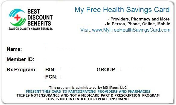My Free Health Savings Card.
