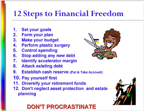 12 Steps to Financial Freedom